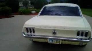 1967 Ford Mustang 289 Dual Exhaust walk around and start up