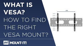 Mount-It! Measure Your VESA for Articulating TV Wall Mount Bracket, DIY, How to Guide,