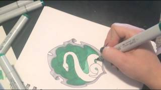 Slytherin Crest Speed Drawing