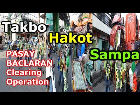 WATCH! Action Scene! Clearing Operation: Pasay, Baclaran, Ma