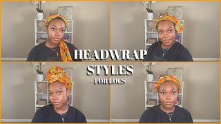 HOW TO: Wrap Styles For Short Locs PT. 2 | Naomi Onlae