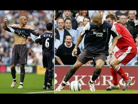 David James plays up front / outfield for man city!