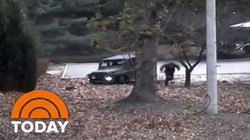 North Korean Soldier's Daring Dash Across Demilitarized Zone Caught On Camera   TODAY