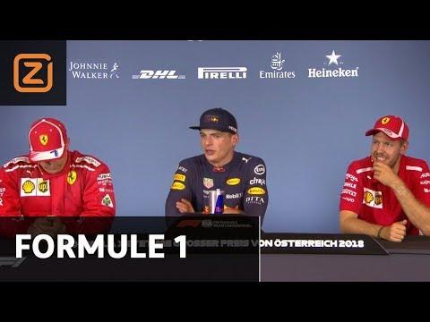 Persconferentie na de race | GP van Oostenrijk | 01/07/2018