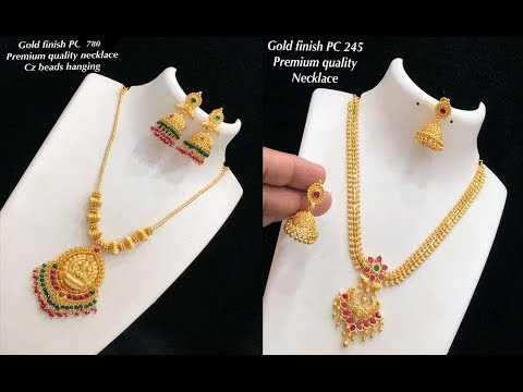 New Arrival One Gram Gold Necklace Design Collections With Price