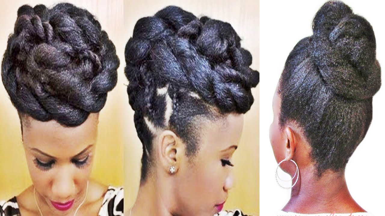 Braided Updo Styles For Natural Hair: Braids And Twists Updo Hairstyle For Black Women
