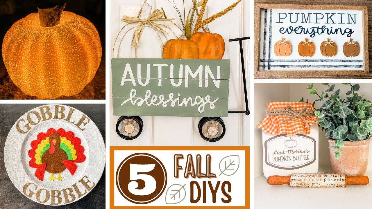 🍁 FALL Home Decor DIYS 🍁 Including 2 Dollar Tree DIYS
