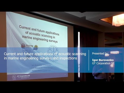 Current and future applications of acoustic scanning in marine engineering surveys and inspections.