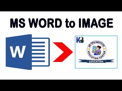 How To Convert Word To Image Without Any Software || KB Tech