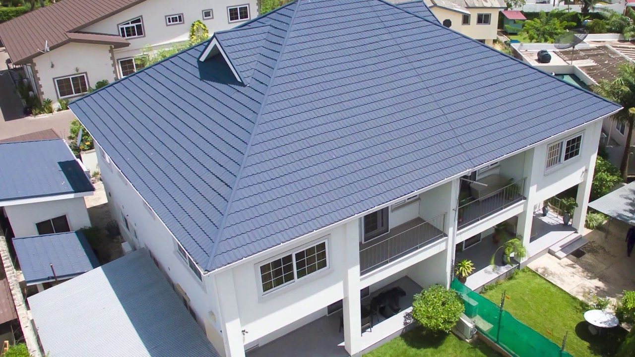 Roofing In Ghana Call 0243284859 For Stone Coated Roofing Sheets Youtube