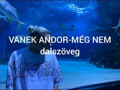VANEK ANDOR-MÉG NEM (dalszöveg)