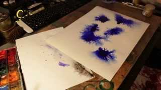 ink and watercolor chaotic abstract painting (2 in 1)