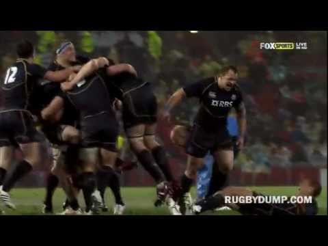 Scotland vs Wallabies celebration head clash - Ally Strokosch & Joe Ansbro headbutt