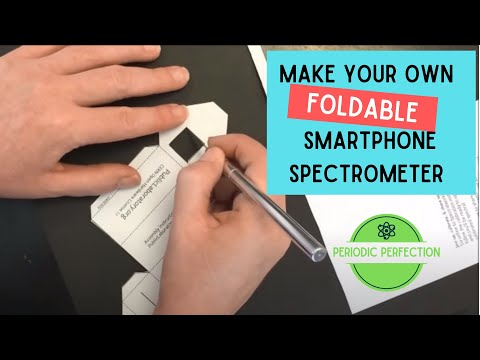Making your Foldable Paper Cellphone Spectrometer