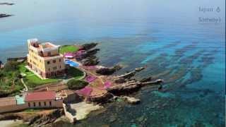 イタリア半島 サルデーニャ 海に浮かぶ城