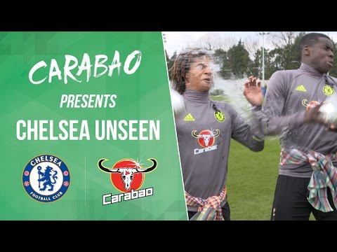 CHELSEA UNSEEN: Luiz, Zouma & Ake water fight, Willian free kick practice & Costa magic bottleflip