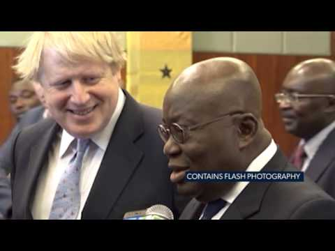 GHANA: BORIS JOHNSON HOLDS TALKS WITH PRESIDENT AKUFO ADDO IN ACCRA