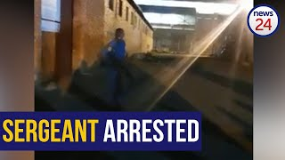 WATCH   Police officer arrested on charges of intimidation, crimen injuria, and discharging a weapon