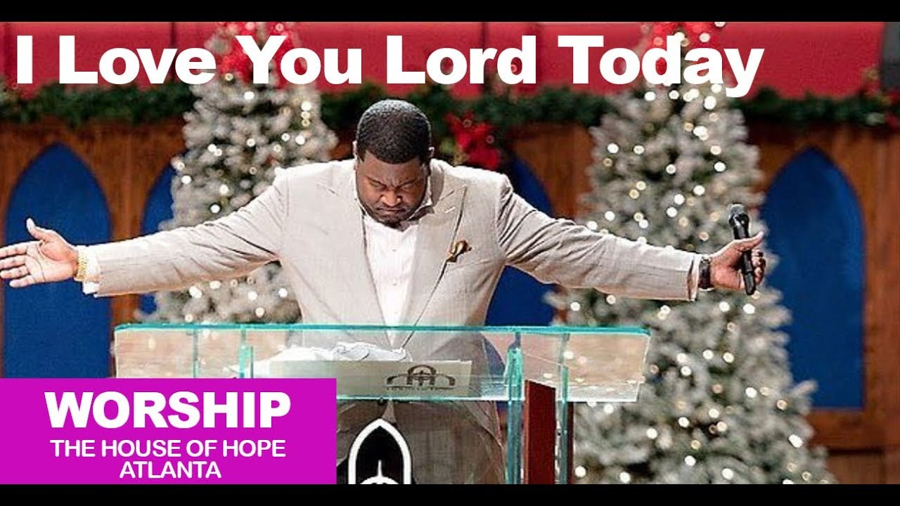 Dr. E. Dewey Smith singing I Love You Lord Today
