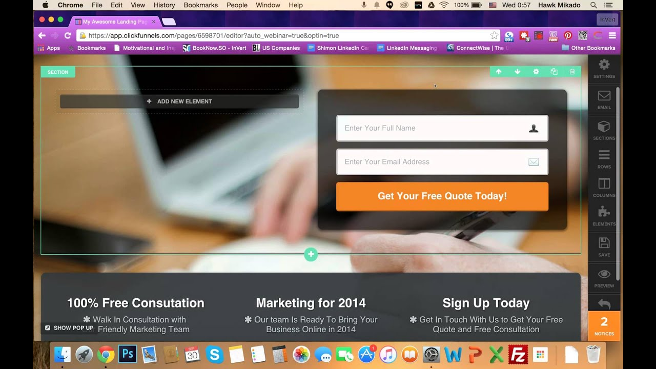 Creating a Video Background with Clickfunnels Opt In Pages