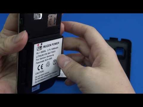 Mugen Power extended battery for Verzion Samsung Fascinate i500