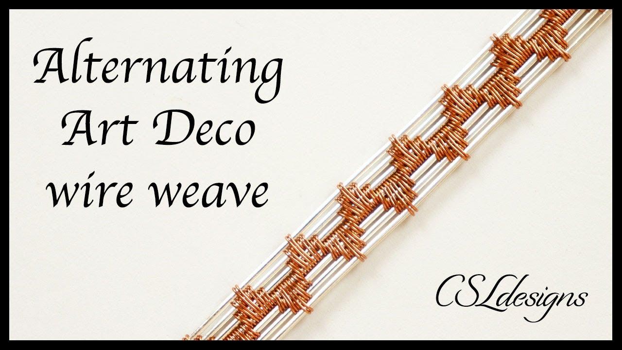 Alternating art deco wire weave ⎮ Wire weaving weries - YouTube