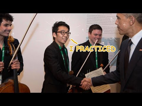 Playing Violin for Barack Obama