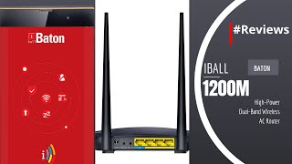 iBall Baton 1200M High-Power Dual-Band Wireless AC Router - #Reviews
