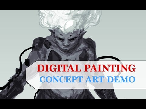 Digital Painting – CONCEPT ART – Real Time Demo