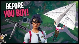 MAVEN is CLEAN! Paper Plane Glider and T-Square Before You Buy! - Fortnite