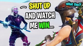 I met a Galaxy Skin that might be the world's BEST Fortnite player...