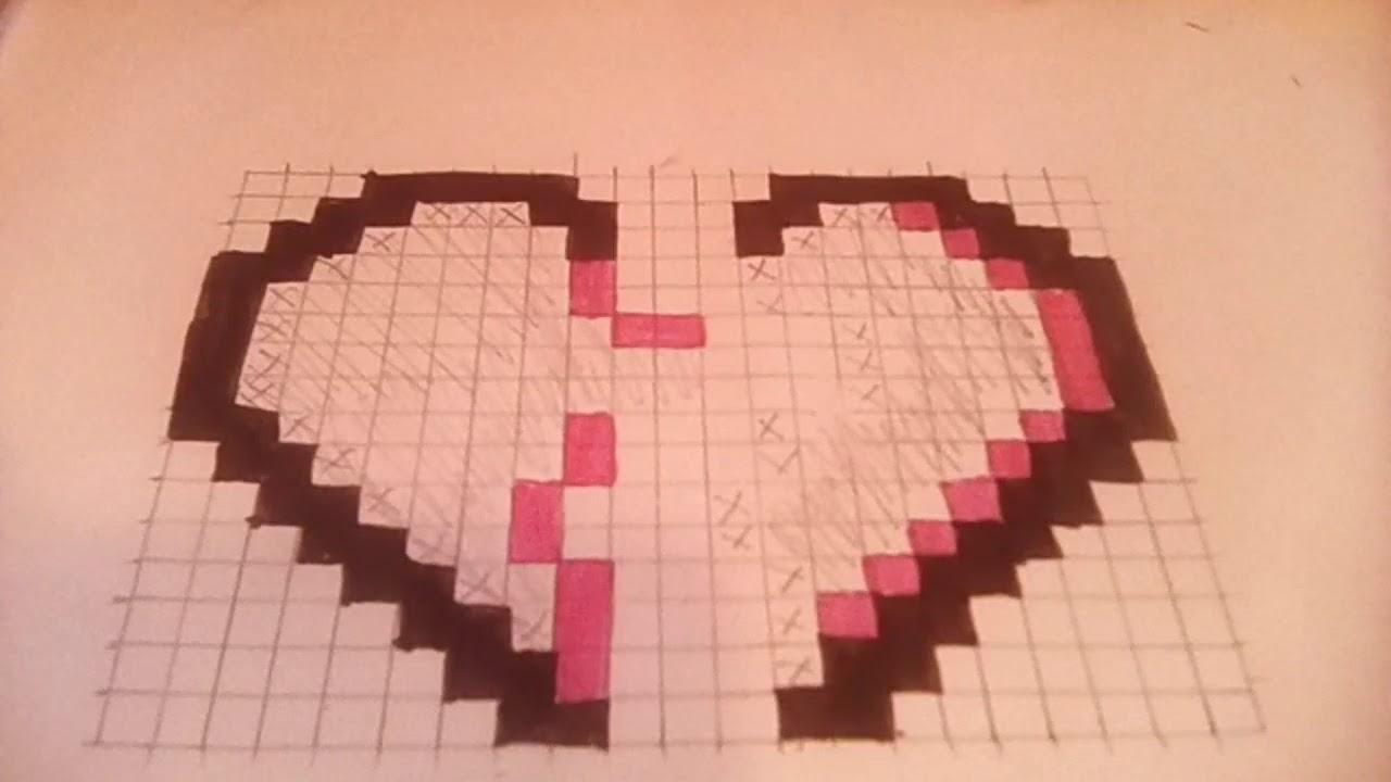 Dessin Pixel Cœur Brise Youtube