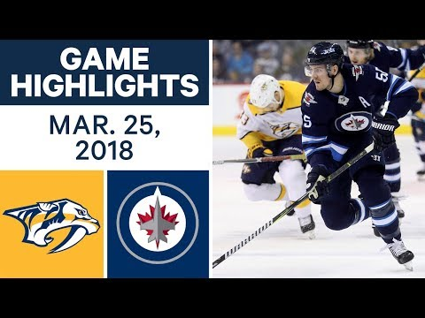 NHL Game Highlights | Predators vs. Jets - Mar. 25, 2018