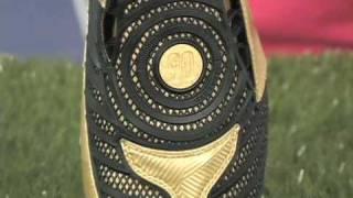 Nike Total90 Laser II FG - Metallic Gold/Black Firm Ground S