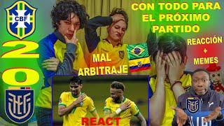 REACCIÓN BRASIL VS ECUADOR (2-0) REAÇÕES / ELIMINATORIAS SUDAMERICANAS / MUNDIAL QATAR 2022