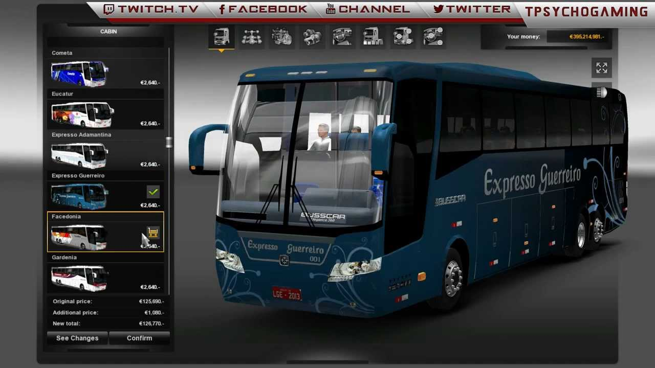 Euro Truck Simulator 2 1 7 Bus Mod Link Youtube