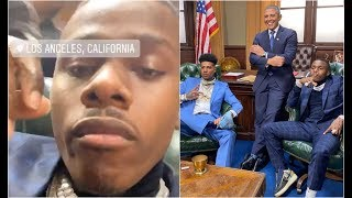 DaBaby And Blueface Meet Obama At The White House