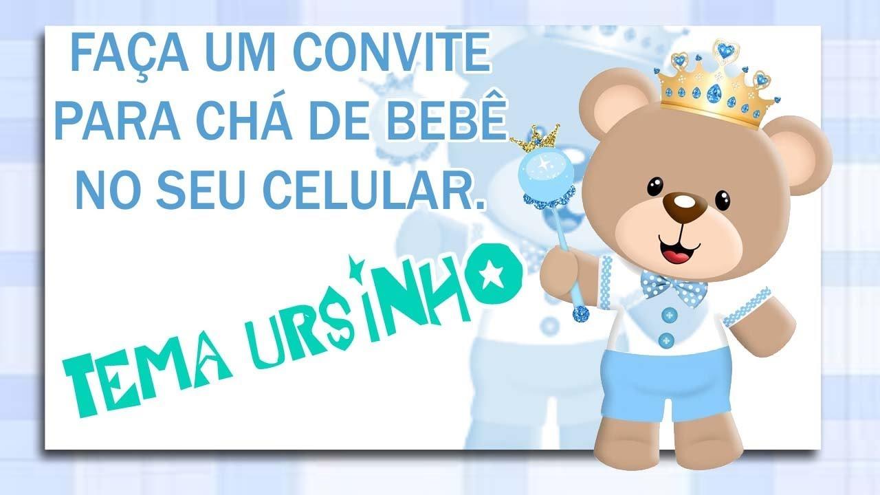 Mensagem De Convite De Cha De Fralda: Como Fazer Um Convite Chá De Bebê No Celular