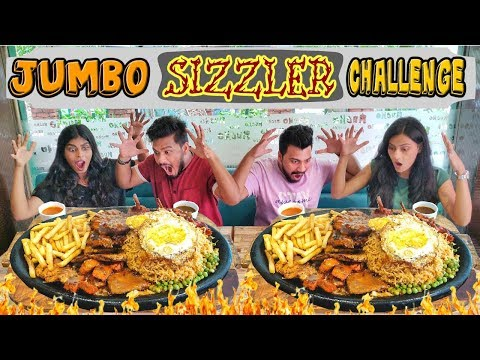 JUMBO SIZZLER EATING CHALLENGE | INDIA'S BIGGEST SIZZLER | SIZZLER EATING COMPETITION (Ep-181)
