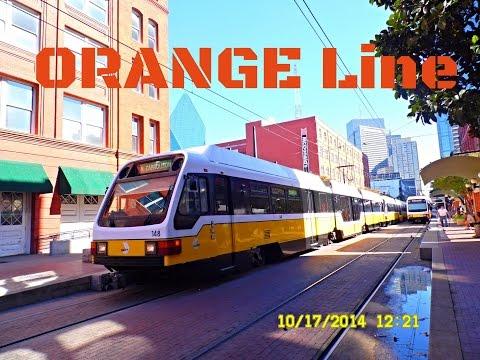 """Dallas DART:  """"SUPER Light Rail""""  -  ORANGE Line to LBJ/Central... FULL RIDE!"""