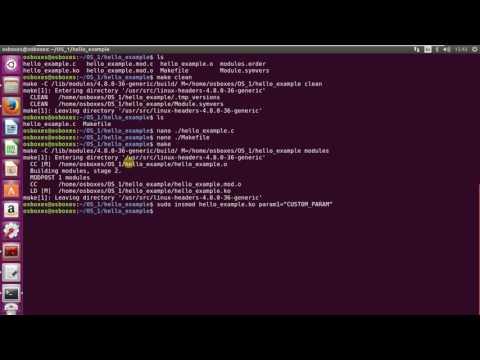 Kernel module (hello example)