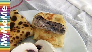 Блины с курицей и грибами и блины с творогом и курагой - 2 рецепта начинки для блинов