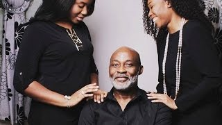 Richard Mofe Damijo poses With His Two Beautiful Daughters For A Family Portrait