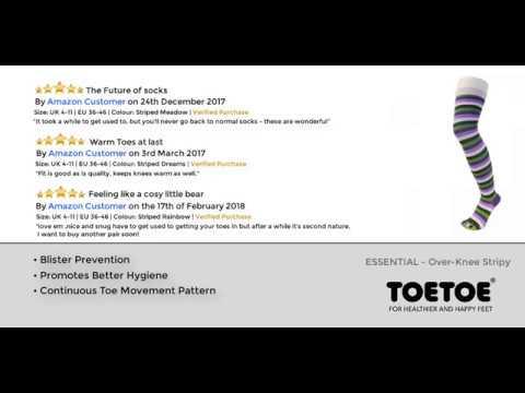 TOETOE - Over Knee Stripy