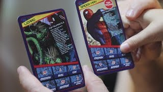 twin vs Twin:  Marvel Top Trumps! Family Fun Play Game for Kids