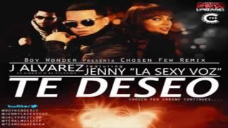 """Te Deseo (Remix) - J Alvarez Ft. Jenny """"La Sexy Voz"""" (Original) (Con Letra) ★REGGAETON 2013★"""