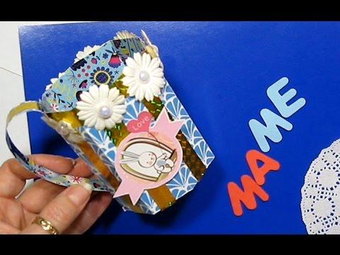 видео: Подарки своими руками на День Рождения матери учителя 8Марта Пасху Чашка из бумаги Поделки с детьми!