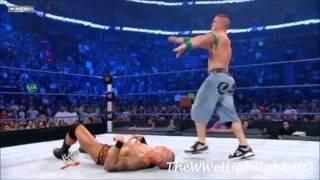 randy orton  vs john cena wwe championship in a i quit match