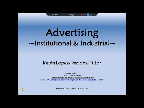 Advertising - Industrial and Institutional Advertising