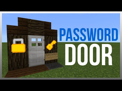 MCPE 0.16.1: Redstone Tutorial - Simplest Password Door! (WORKS ON PC)